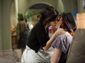 Adrianna and Gia making out promo still