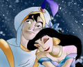 Aladdin and Jasmine - disneys-couples fan art