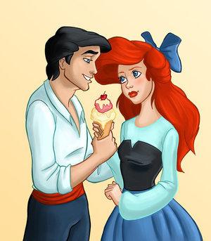Disney's Couples Обои called Ariel and Eric