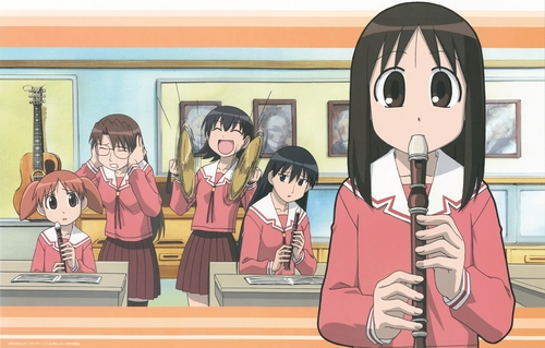 アニメ 壁紙 entitled Azumanga Daioh: 音楽