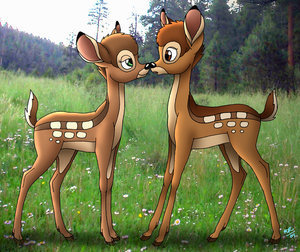 Disney's Couples Обои entitled Bambi and Faline