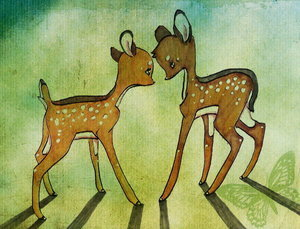 Disney's Couples Обои titled Bambi and Faline
