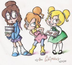 Chipettes fã Art