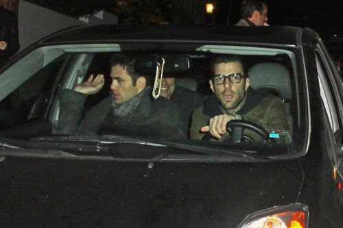 Chris Pine spotted with Zachary Quinto - March 5 2010