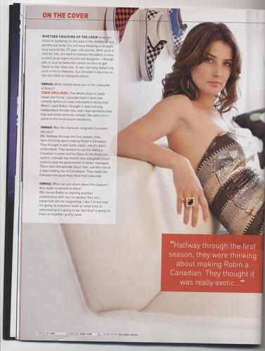 Cobie Smulders - SN Mag (March 2010) Scans