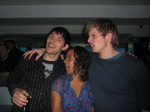 Colin,Angel,Bradley are having fun