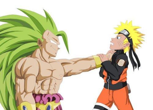 DBZ Broly vs Naruto
