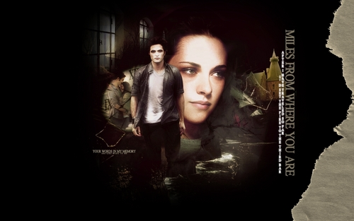 Edward & Bella پیپر وال