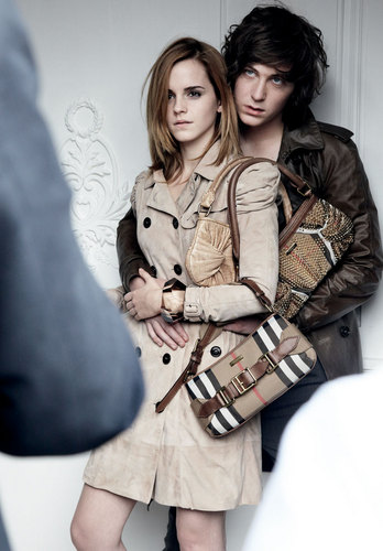 Emma at Burberry Campaign