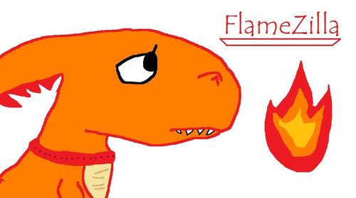 FlameZilla!!! i drew it :]