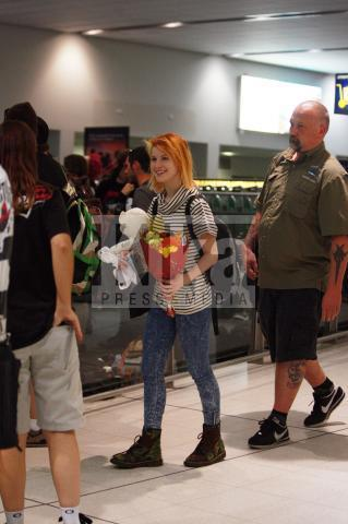 Hayley at the airport