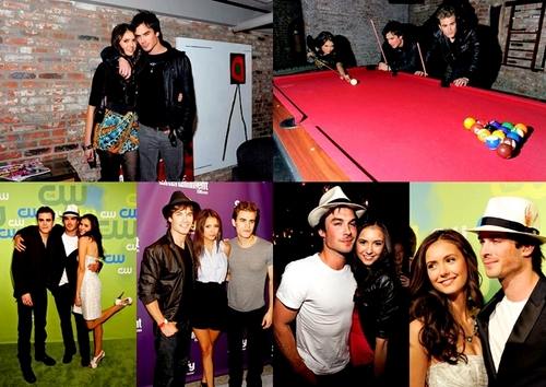 Ian Somerhalder and Nina Dobrev wallpaper titled Ian and Nina picspam