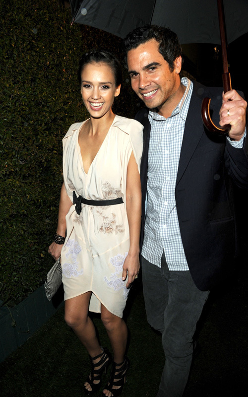 Jessica Alba and Cash Warren out for the Global Green party (March 3)