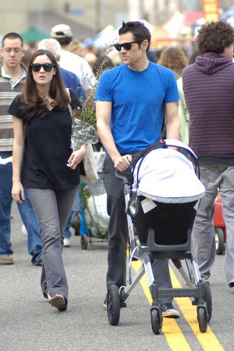 Johnny Knoxville, Naomi Nelson & Their Baby Rocko Akira Clapp Walking in LA