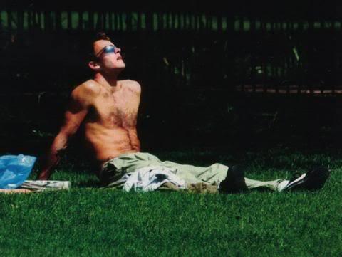 Jonny sunning himself in L.A.