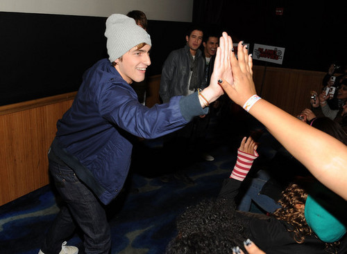 Kendall high-five