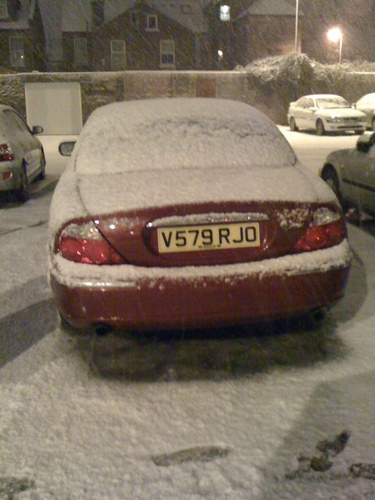 London snow in January