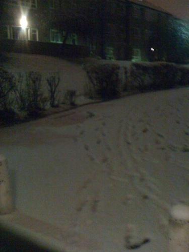 ロンドン snow in January