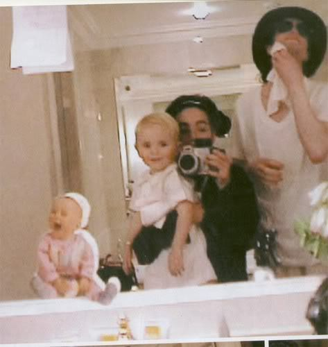 MJ With Kids/ Mirror