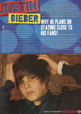 Magazine Scans > 2010 > Justin Bieber & 老友记