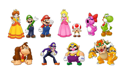 Mario Characters Images Main Wallpaper