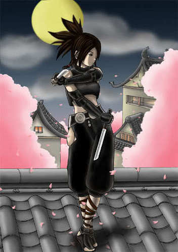 Manga Black Ninja Girl