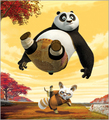 Master shifu kicking the panda