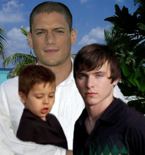 Michael Scofield with his son MJ and his nephew LJ