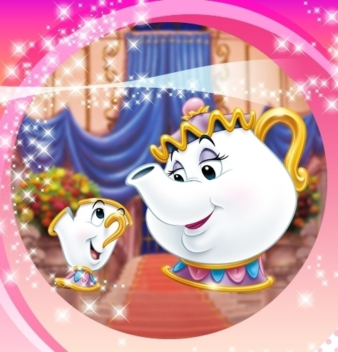 Disney Parents karatasi la kupamba ukuta called Mrs. Potts & Chip