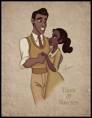Disney's Couples Обои entitled Naveen and Tiana