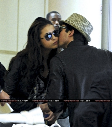 Nina Dobrev and Ian Somerhalder arrive into LAX Airport together - March 6 - the-vampire-diaries-tv-show Photo