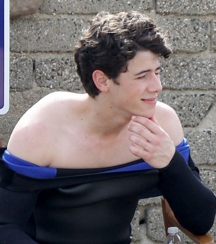 "Out on the set of ""JONAS"" in Malibu, CA - 3/01"