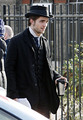 Pictures of Rob on the set of 'Bel Ami' today  - twilight-series photo