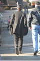 Pictures of Rob on the set of 'Bel Ami'  - twilight-series photo