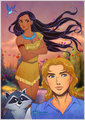 Pocahontas and John Smith - disneys-couples fan art