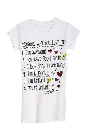 Reasons u Love Me Tee