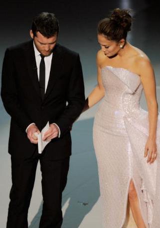 Sam & Jennifer Lopez Presenting at 2010 Academy Awards