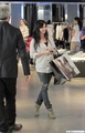 Shannen Doherty shops at The Armani Exchange on Robertson Blvd