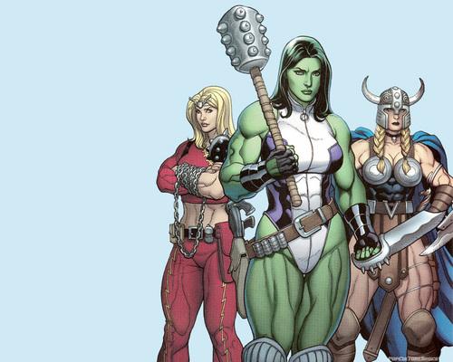 She Hulk, Valkyrie, & Thundra