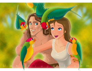 Disney's Couples Hintergrund entitled Tarzan and Jane