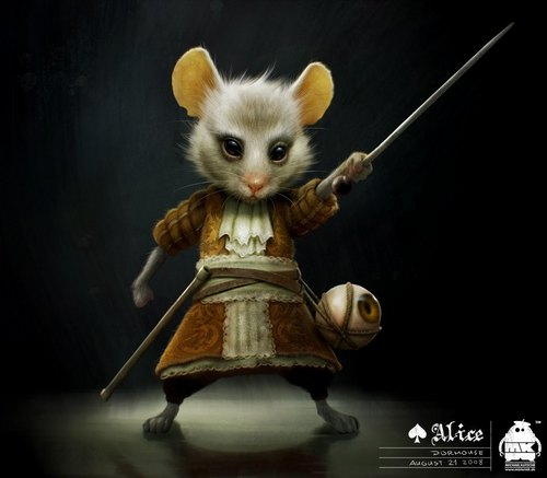 The Dormouse ~ Character Art によって 'Alice In Wonderland' Character Designer Michael Kutsche
