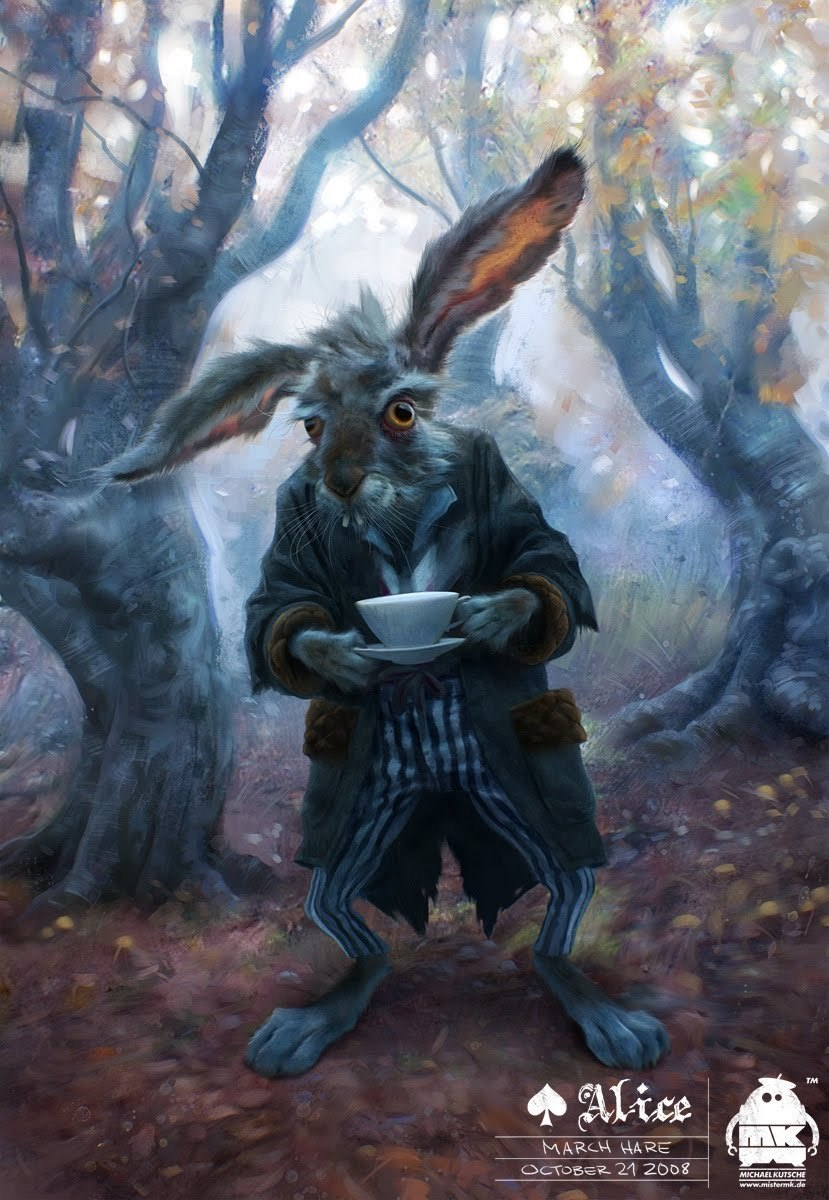 The march hare character art by 39 alice in wonderland for March hare wallpaper