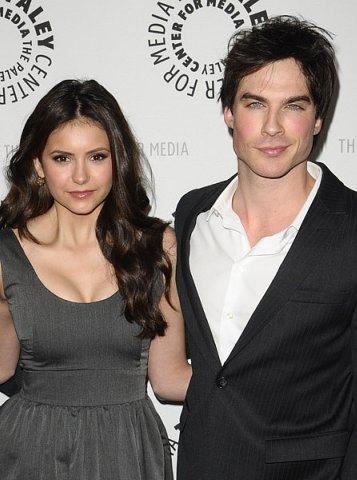 Ian Somerhalder and Nina Dobrev wallpaper titled The PaleyFest 2010