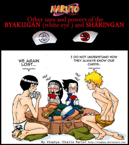 The other uses of the sharingan and the byakugan XD
