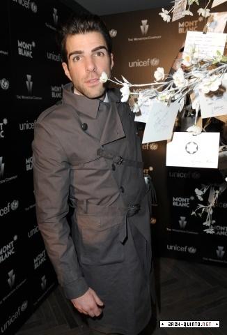 Zachary Quinto at UNICEF - Pre Oscars