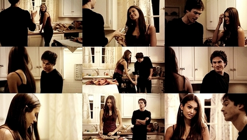 damon and elena scenes