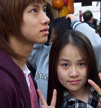 heechul and his sis