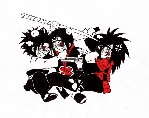 itachi sasuke and madara fighting