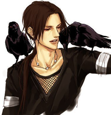 itachi with crow