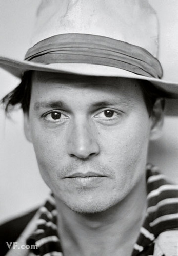 johnny black and white <3